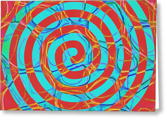Spiral Abstract 1 Greeting Card by Edward Fielding