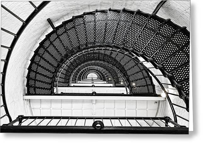 Spiral Staircase Photographs Greeting Cards - Spiral Ascent Greeting Card by Janet Fikar