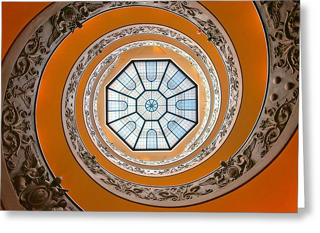 Spiral Staircase Photographs Greeting Cards - Spiral Greeting Card by Brian Bonham
