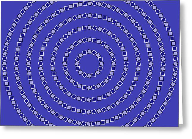 Op Art Greeting Cards - Spiral Circles Greeting Card by Michael Tompsett