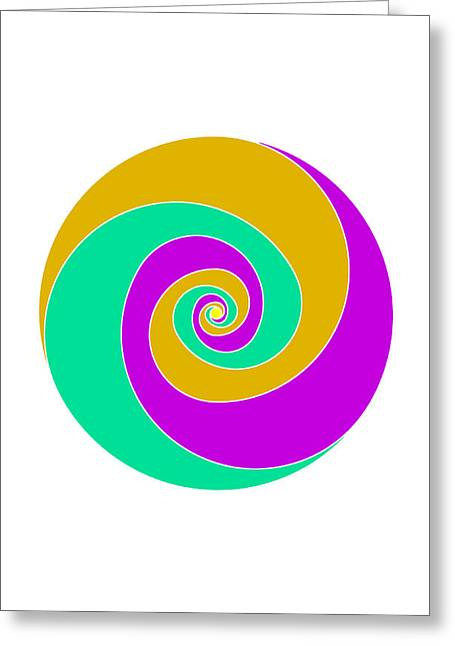 Coloured Greeting Cards - Spiral Greeting Card by Francisco Rodriguez