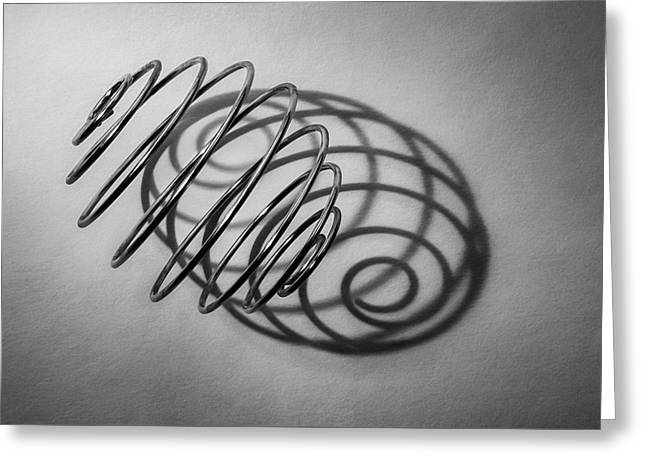 Spiral Shape And Form Greeting Card by Scott Norris