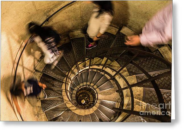 Spiral Staircase Greeting Card by Didier Marti
