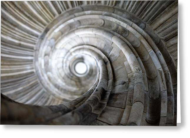Stein Greeting Cards - Spiral staircase Greeting Card by Falko Follert