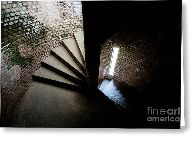 Spiral Staircase Inside Fort Jefferson Greeting Card by Craig Hinton