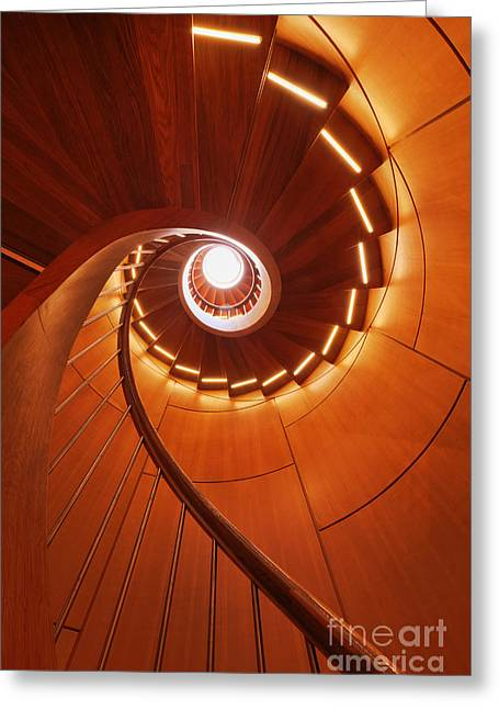Spiral Staircase Greeting Cards - Spiral Staircase Greeting Card by Jeremy Woodhouse