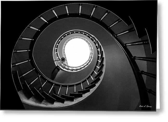 Spiral Staircase Greeting Card by Todd Klassy
