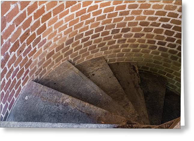 Mccoy Greeting Cards - Spiral Stairway Greeting Card by A Different Brian Photography