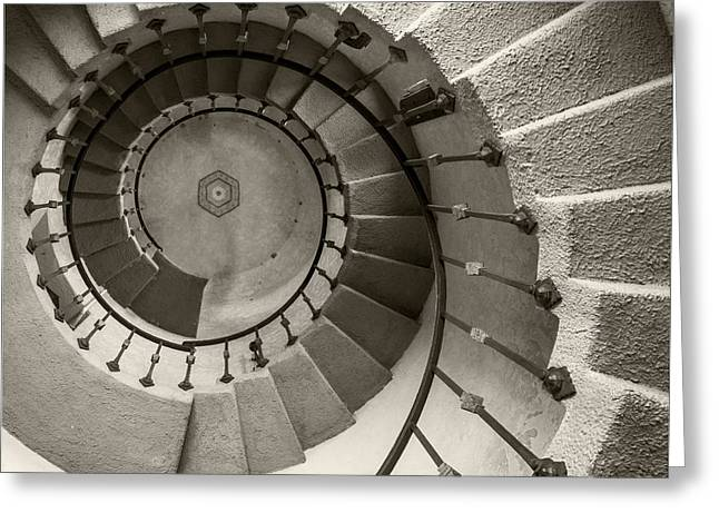 Helix Greeting Cards - Spiral Up Greeting Card by Jerry Deutsch