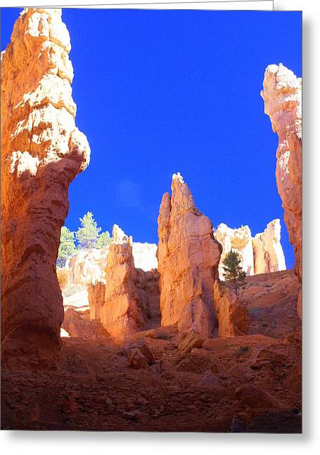 Marty Koch Greeting Cards - Spires Greeting Card by Marty Koch