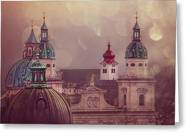 Spires Of Salzburg  Greeting Card by Carol Japp