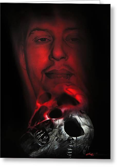 Slipknot Greeting Cards - Spirit #2 Remains Greeting Card by Christian Chapman Art