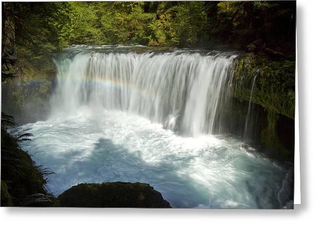 White Salmon River Greeting Cards - Spirit Falls Greeting Card by Jon Ares