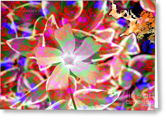 Colrful Greeting Cards - Spirit Flower Greeting Card by Bobby Hammerstone