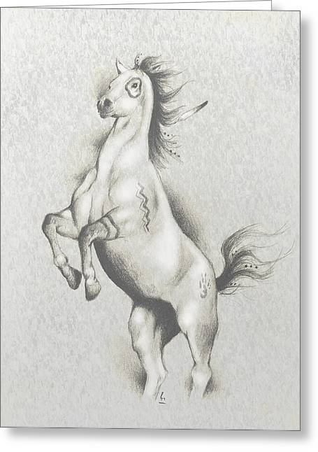 Native American Spirit Portrait Greeting Cards - Spirit Horse Greeting Card by Robert Martinez