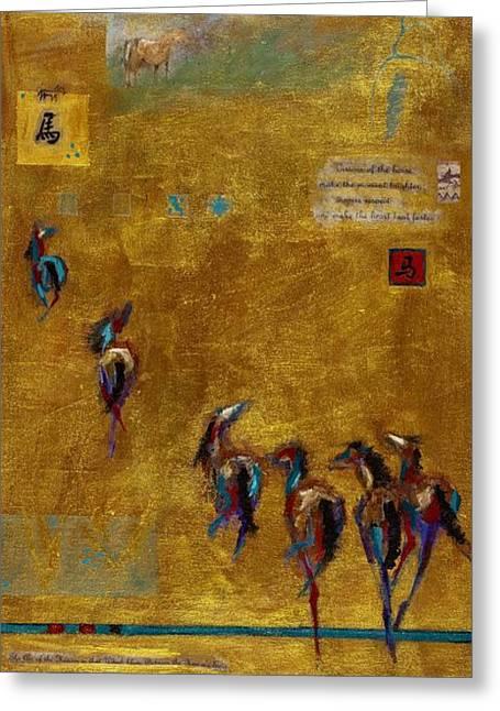 Spirit Horses Greeting Card by Frances Marino