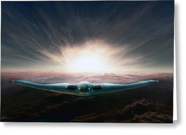 Spirit In The Sky Greeting Card by Peter Chilelli