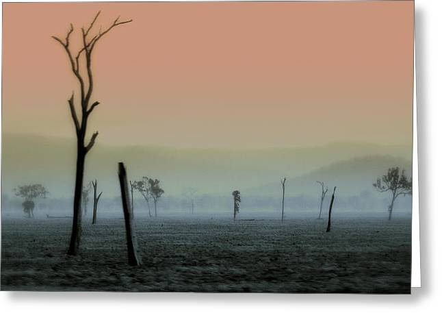 Fog Mist Greeting Cards - Spirit Land 2 Greeting Card by Holly Kempe