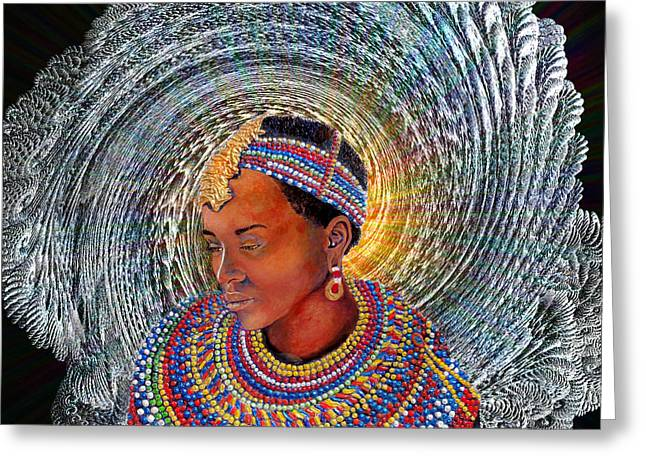 Spirit Of Africa Greeting Card by Michael Durst