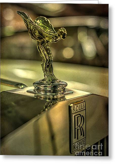 Victorian Greeting Cards - Spirit of Ecstasy Greeting Card by Adrian Evans