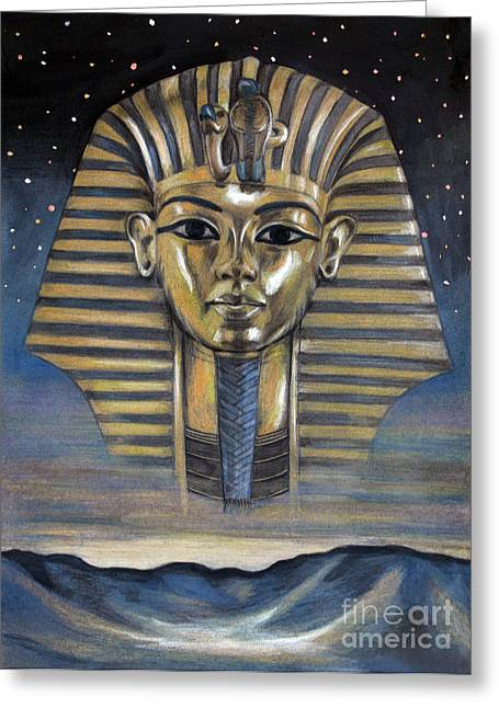 King Pastels Greeting Cards - Spirit of Egypt Greeting Card by Stoyanka Ivanova