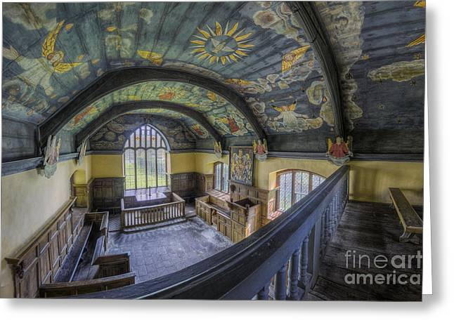 Medieval Temple Greeting Cards - Spirit Of Faith Greeting Card by Ian Mitchell
