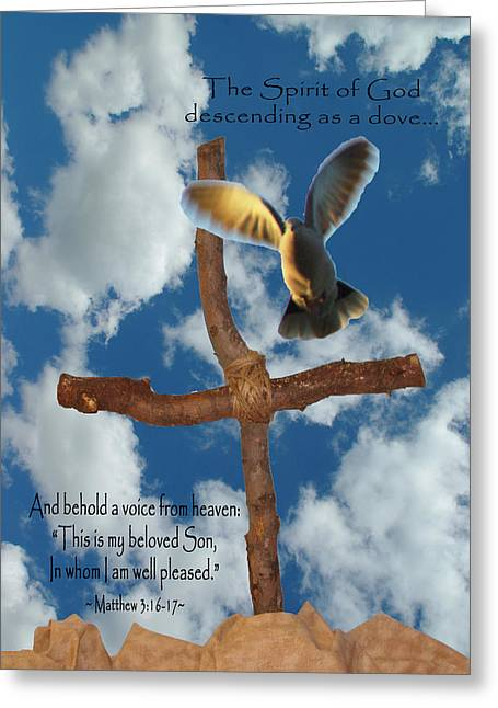 Descent Of Holy Spirit Greeting Cards - Spirit of God Greeting Card by Robyn Stacey