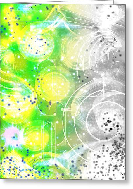 Abstract Movement Greeting Cards - Spirit of Nature I Greeting Card by Orphelia Aristal