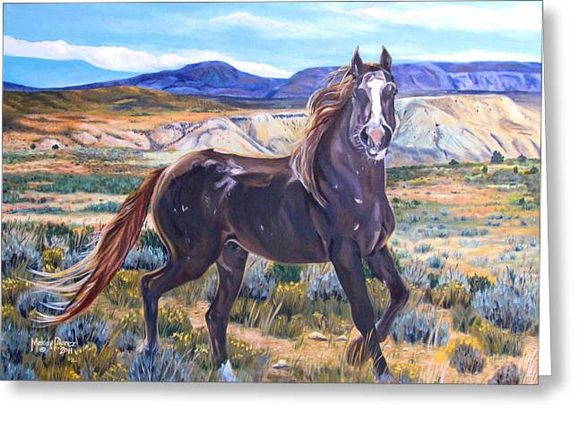 Melody Perez Greeting Cards - Spirit of the Basin Greeting Card by Melody Perez
