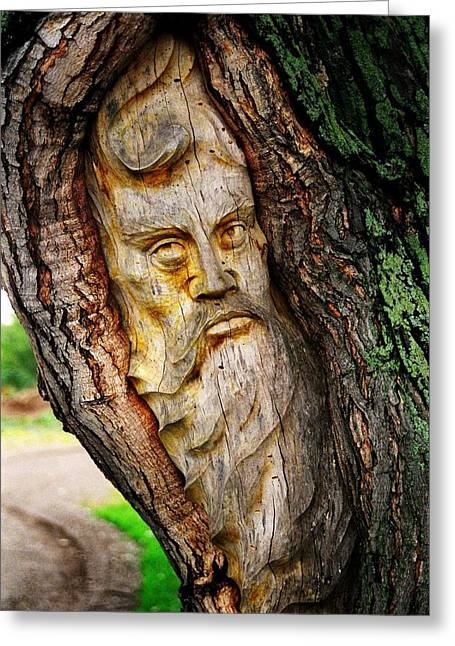 Carver Greeting Cards - Spirit of the Forest ... Greeting Card by Juergen Weiss