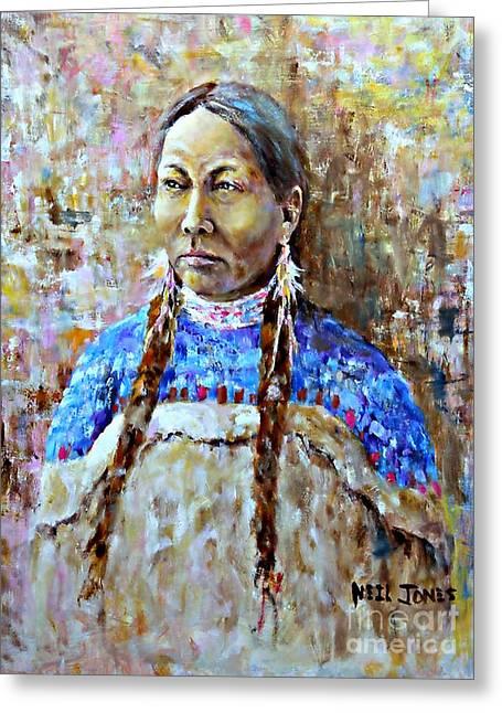 Spirit Of The Lakota Greeting Card by Neil Jones