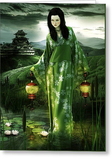 Latern Greeting Cards - Spirit of the Lamp Greeting Card by Cheri Stollings