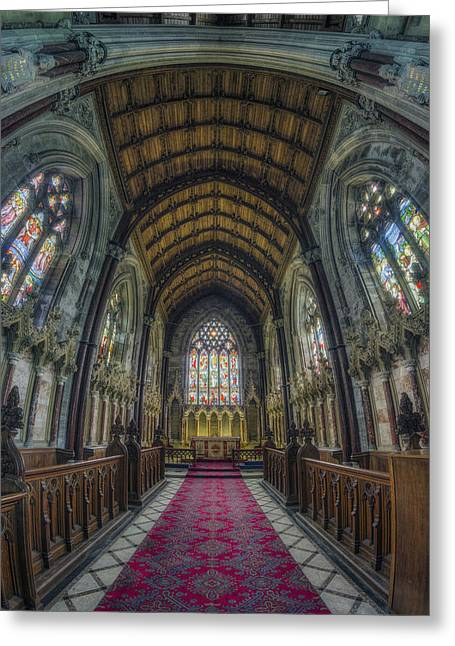 Medieval Temple Greeting Cards - Spirit of the Lord Greeting Card by Ian Mitchell