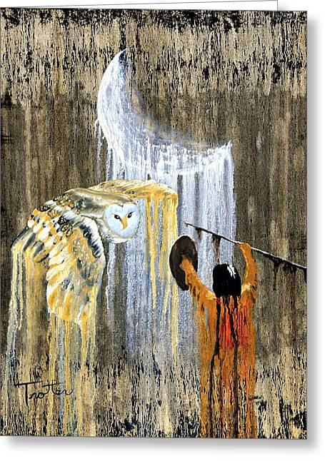 Drip Greeting Cards - Spirit of the Night Greeting Card by Patrick Trotter