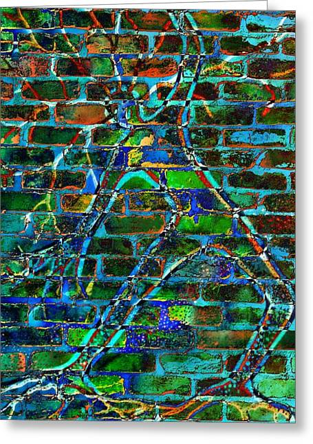 Coloured Greeting Cards - Spirit On The Wall Greeting Card by Leanne Seymour