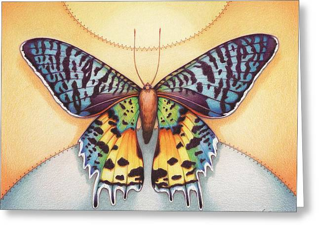 Butterflies Drawings Greeting Cards - Spirit Sunrise Greeting Card by Amy S Turner