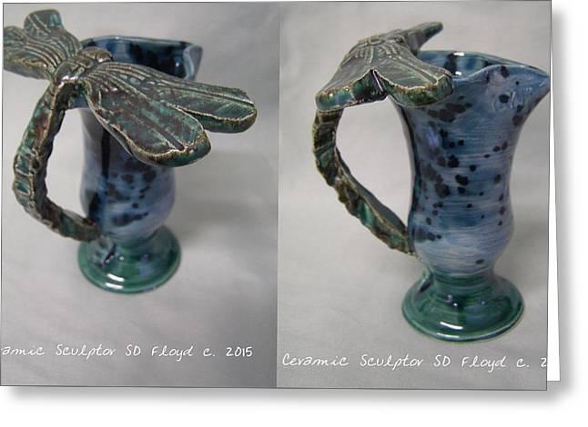 Ceramic Ceramics Greeting Cards - Spirit Walker Greeting Card by Sandi Floyd
