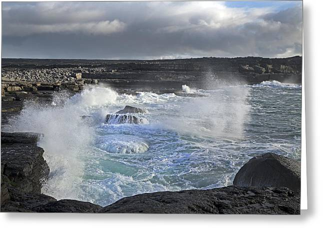 Aran Islands Greeting Cards - Spirit Waves Ireland Greeting Card by Betsy C  Knapp