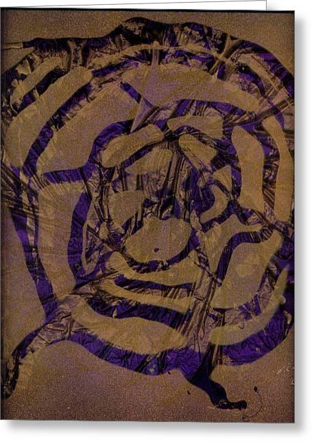 Original Glass Greeting Cards - Spirit Web Greeting Card by Rick Silas