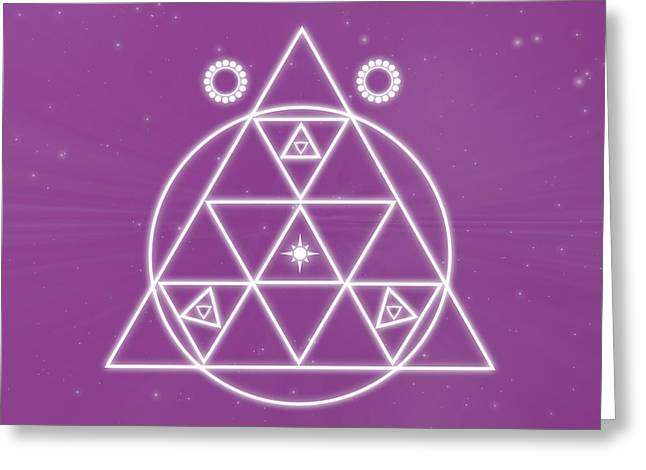 Purple Chakra Greeting Cards - Spiritual Awakening Greeting Card by Sallie Keys