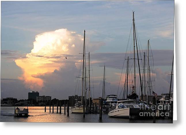 Docked Sailboats Greeting Cards - Spiritual Greeting Card by Beth Williams