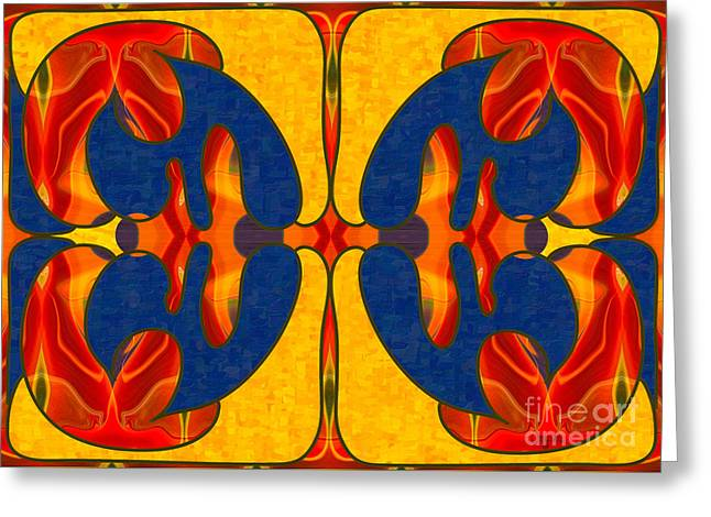 Spiritual Dreaming Abstract Art By Omashte Greeting Card by Omaste Witkowski