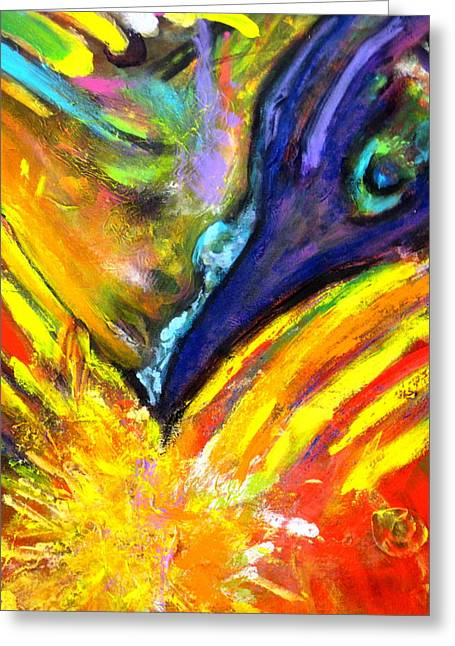 Subtle Colors Greeting Cards - Spiritual Encounter Greeting Card by Shaktima Brien