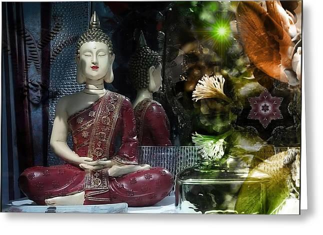 Mystic Art Greeting Cards - Spiritual Feelings  Greeting Card by Daniel  Arrhakis