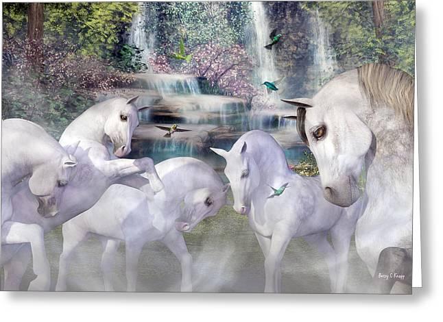 Spiritual Harmony Greeting Card by Betsy C Knapp