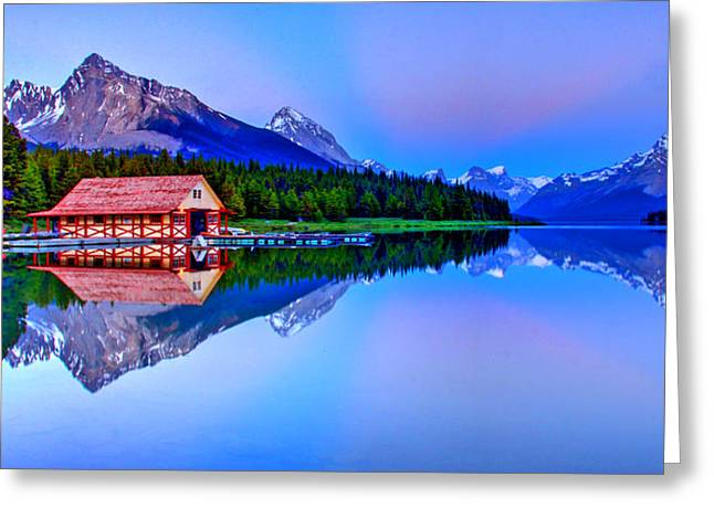Snow Capped Greeting Cards - Spiritual Lake Greeting Card by Scott Mahon
