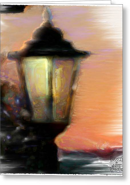 Ebsq Greeting Cards - Spiritual Lamp Greeting Card by Dee Flouton