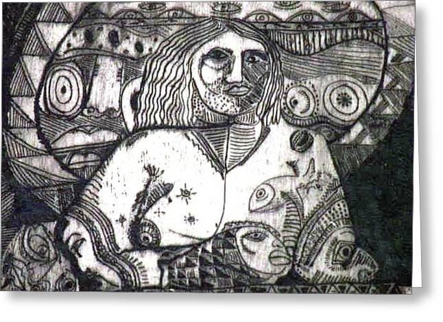 Robert Daniels Drawings Greeting Cards - Spirituality Greeting Card by Robert Daniels