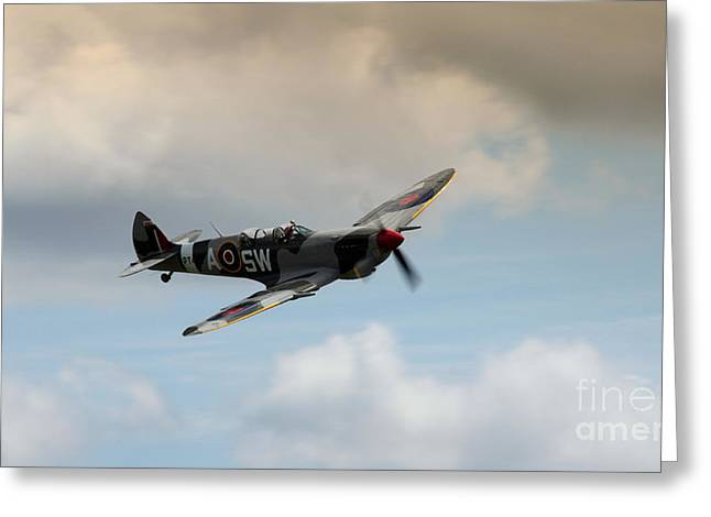 Spitfire Greeting Cards - Spitfire Greeting Card by Angel  Tarantella