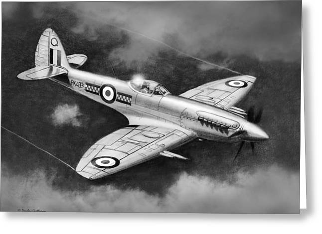 Military Airplanes Greeting Cards - Spitfire Mark 22 Greeting Card by Douglas Castleman